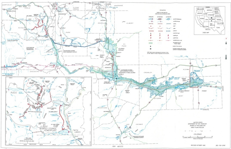 Fryingpan Arkansas Project System Map Southeastern