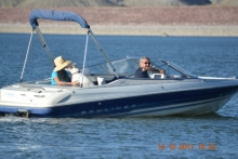 Recreational boating on Pueblo Reservoir, photo courtesy of Carla Quezada