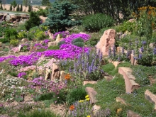 Crevice Garden in Mesa Xeriscape Demonstration Garden Colorado Springs Utilities Conservation and Environmental Center
